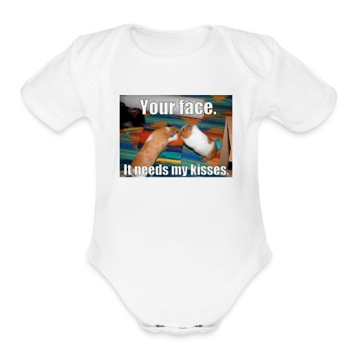 UDSYFIOwehipgwaepfihweihuaegwiaweiupfg - Organic Short Sleeve Baby Bodysuit