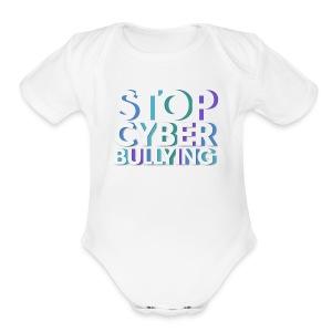 cyber bullying prevention - Short Sleeve Baby Bodysuit