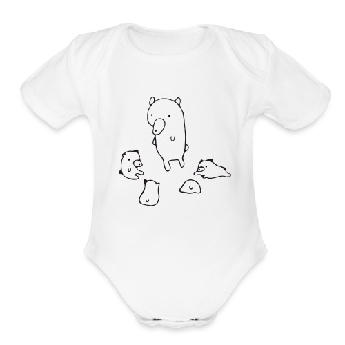 Bear School - Organic Short Sleeve Baby Bodysuit