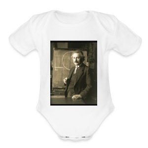 Professor Einstein - Short Sleeve Baby Bodysuit