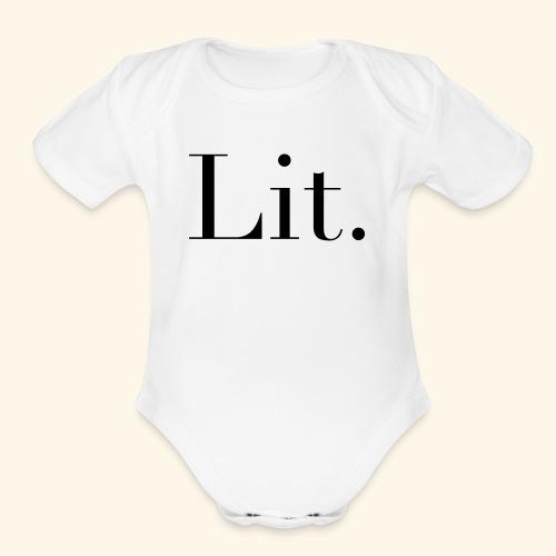 Lit - Organic Short Sleeve Baby Bodysuit