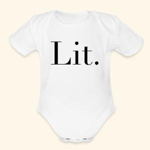Lit - Short Sleeve Baby Bodysuit