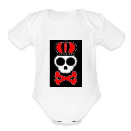 new skull t shirt - Organic Short Sleeve Baby Bodysuit
