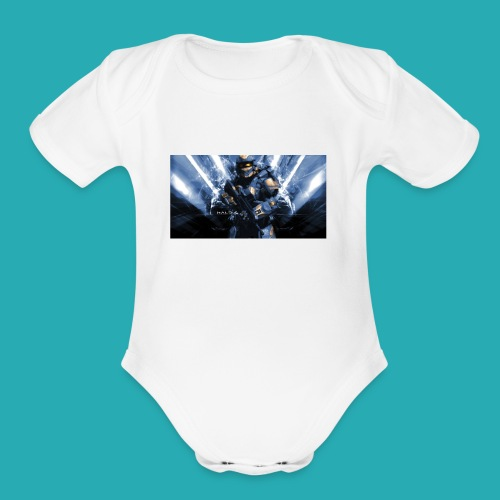 JEAGAMING12 - Organic Short Sleeve Baby Bodysuit