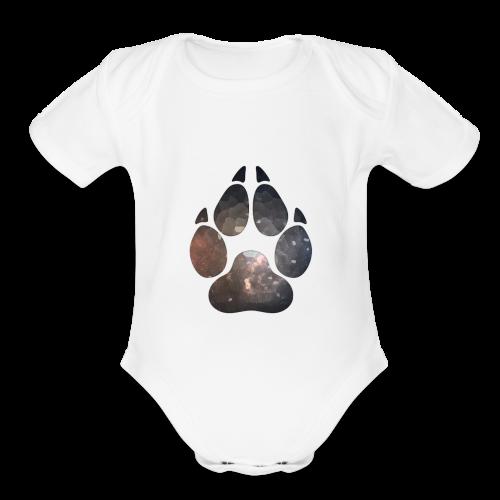 Paw Print 01 - Organic Short Sleeve Baby Bodysuit