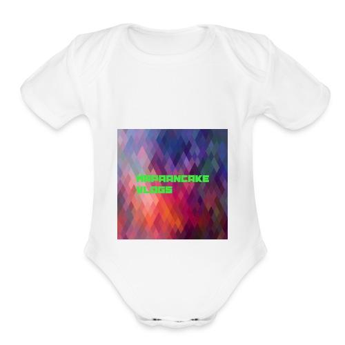 Official MrPaanake LOGO - Organic Short Sleeve Baby Bodysuit