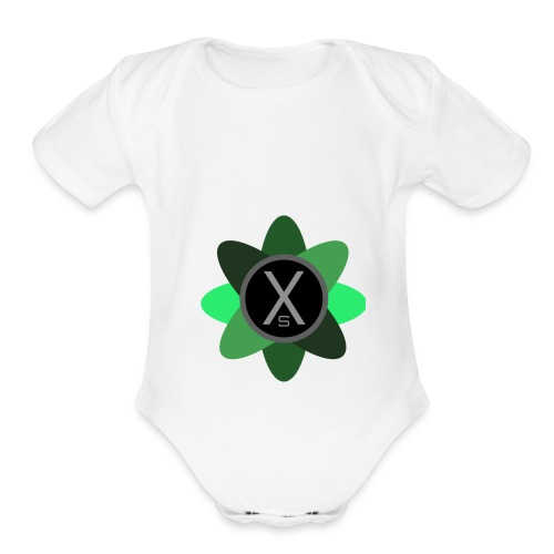 XSimple New Logo - Organic Short Sleeve Baby Bodysuit