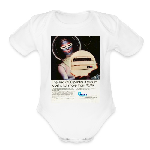 tr computer early80s juki - Organic Short Sleeve Baby Bodysuit