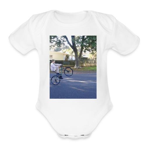 rcbikelife brand - Organic Short Sleeve Baby Bodysuit
