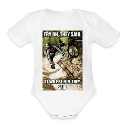 Bike meme on your shirt - Organic Short Sleeve Baby Bodysuit