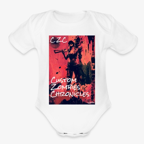 Misty CZC LOGO - Organic Short Sleeve Baby Bodysuit