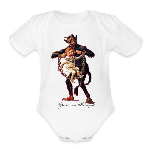 Gruss vom (Greetings From) Krampus - Organic Short Sleeve Baby Bodysuit