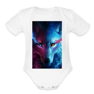 Wolf 44f62aed 5d06 3524 b855 47d7281f9ffb - Short Sleeve Baby Bodysuit