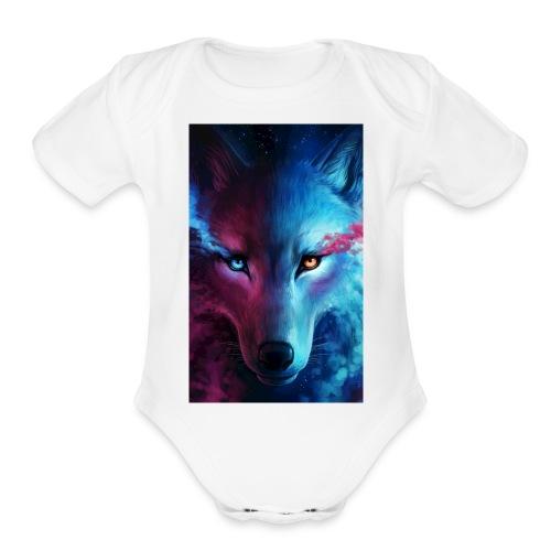Wolf 44f62aed 5d06 3524 b855 47d7281f9ffb - Organic Short Sleeve Baby Bodysuit