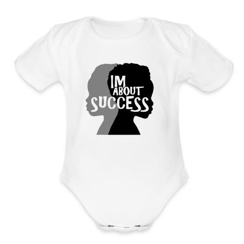 IM ABOUT SUCCESS original brand logo - Organic Short Sleeve Baby Bodysuit