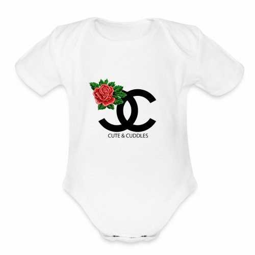 CUTE And CUDDLE MOMMY AND ME BUNDLE - Organic Short Sleeve Baby Bodysuit