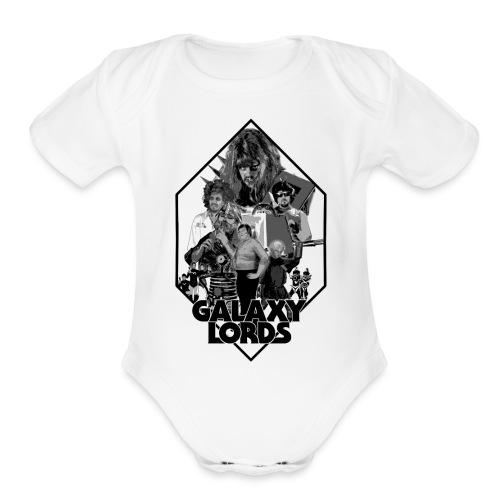 Monochrome Poster Image (Black) - Organic Short Sleeve Baby Bodysuit