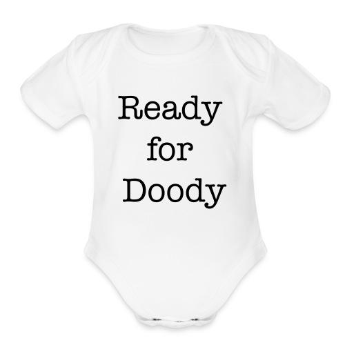 ReadyforDoody Baby Shower Gift - Organic Short Sleeve Baby Bodysuit