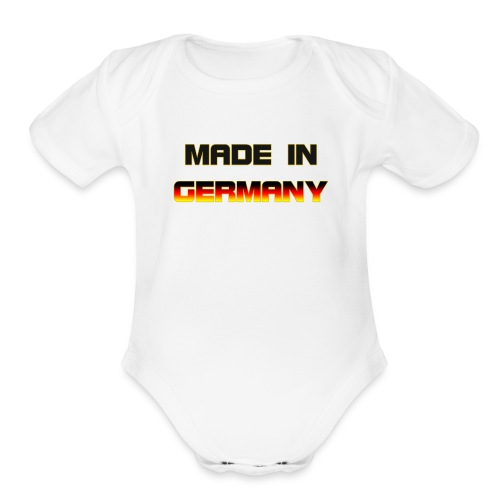 Made in Germany - Organic Short Sleeve Baby Bodysuit