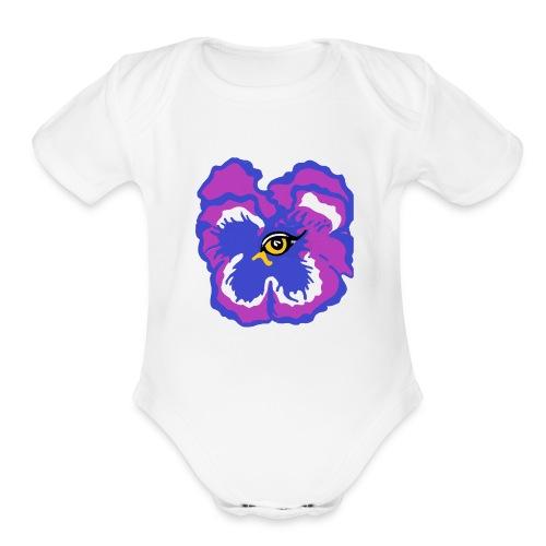 golden center - Organic Short Sleeve Baby Bodysuit