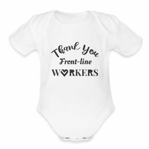 Thank you fronline worker - Organic Short Sleeve Baby Bodysuit