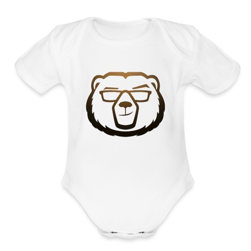 Bear - Organic Short Sleeve Baby Bodysuit