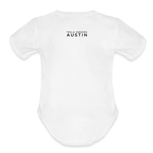 TESLA OWNERS AUSTIN CLUB MERCHANDISE - Organic Short Sleeve Baby Bodysuit