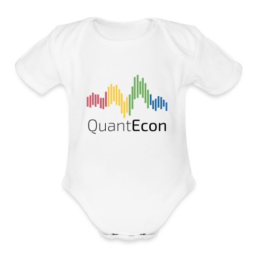 QuantEcon Official Logo - Organic Short Sleeve Baby Bodysuit