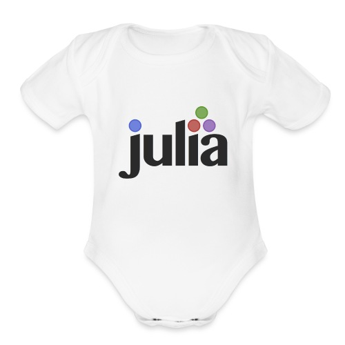 Official Julia Logo - Organic Short Sleeve Baby Bodysuit
