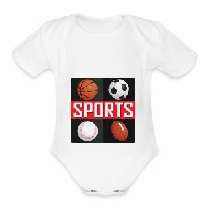 Sport T-shirt - Short Sleeve Baby Bodysuit