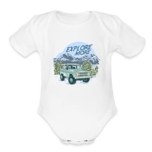 Bronco Truck Explore more II Graphic T-Shirt - Organic Short Sleeve Baby Bodysuit