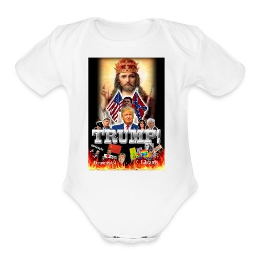 Support Trump - Organic Short Sleeve Baby Bodysuit