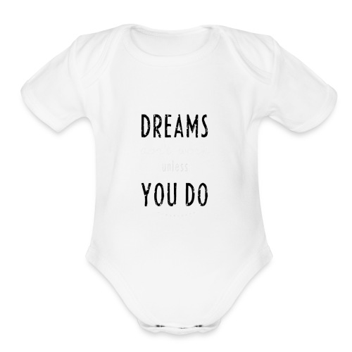 DREAMS Background - Organic Short Sleeve Baby Bodysuit
