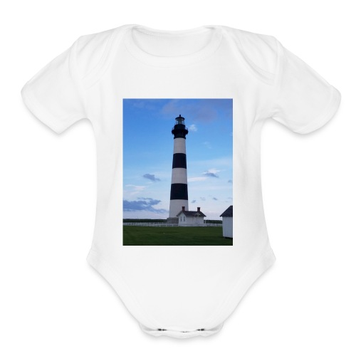 Boodie Lighthouse - Organic Short Sleeve Baby Bodysuit