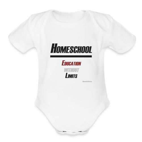 Homeschool Without Limits - Organic Short Sleeve Baby Bodysuit