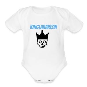 king symbol - Short Sleeve Baby Bodysuit