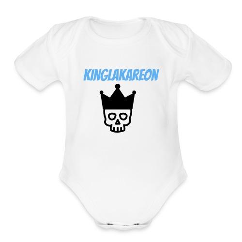 king symbol - Organic Short Sleeve Baby Bodysuit