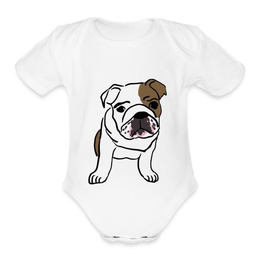 Cute Pug - Organic Short Sleeve Baby Bodysuit