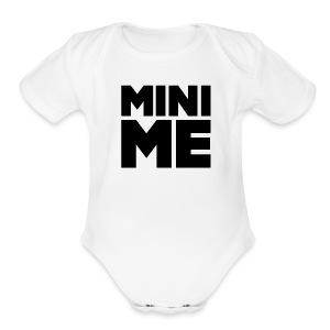 Babe Mini Me T Shirt Black on White - Short Sleeve Baby Bodysuit