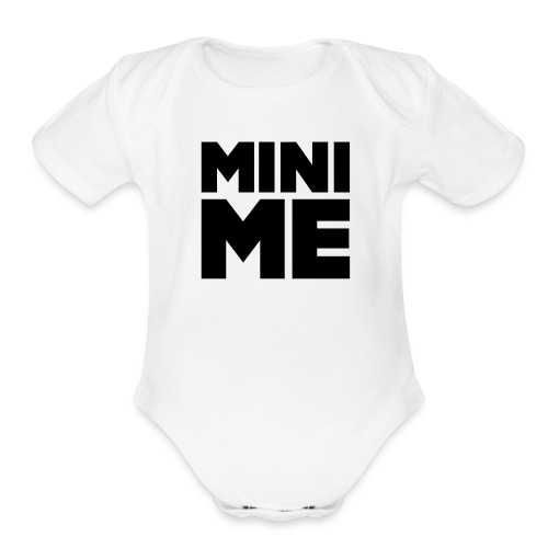 Babe Mini Me T Shirt Black on White - Organic Short Sleeve Baby Bodysuit