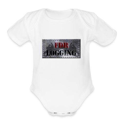 FDR Logging Main Logo - Organic Short Sleeve Baby Bodysuit