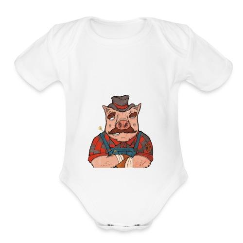 It's American Made! - Organic Short Sleeve Baby Bodysuit