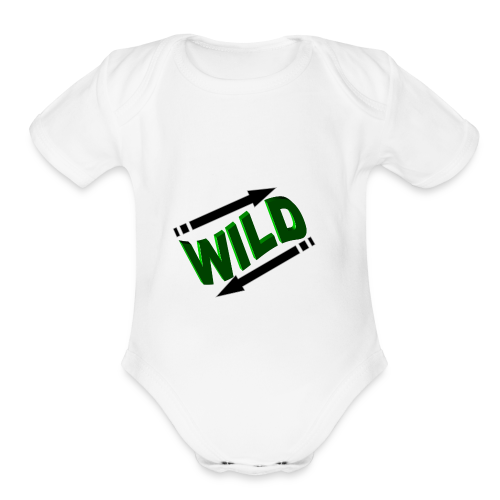 IN and OUT inside out - Organic Short Sleeve Baby Bodysuit