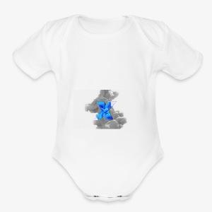 Grey smoke - Short Sleeve Baby Bodysuit