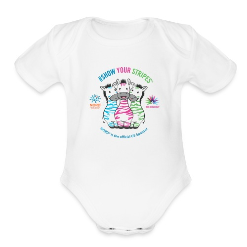 Rare Disease Day #Show Your Stripes - Organic Short Sleeve Baby Bodysuit