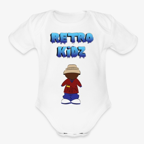 New Retro Kidz Back - Organic Short Sleeve Baby Bodysuit