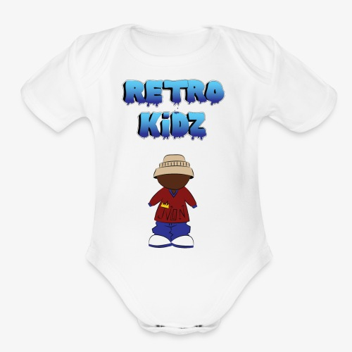 New Retro Kidz Back - Organic Short Sleeve Baby Bodysuit