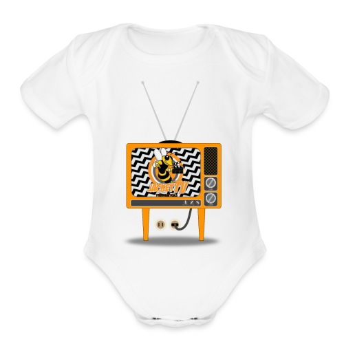 JacketTV Set - Organic Short Sleeve Baby Bodysuit