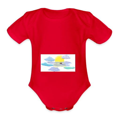 Sea of Clouds - Organic Short Sleeve Baby Bodysuit