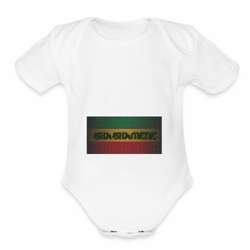 SHASHAMENE RECT10MB - Organic Short Sleeve Baby Bodysuit
